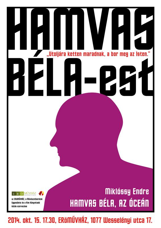 Hamvas Béla plakát