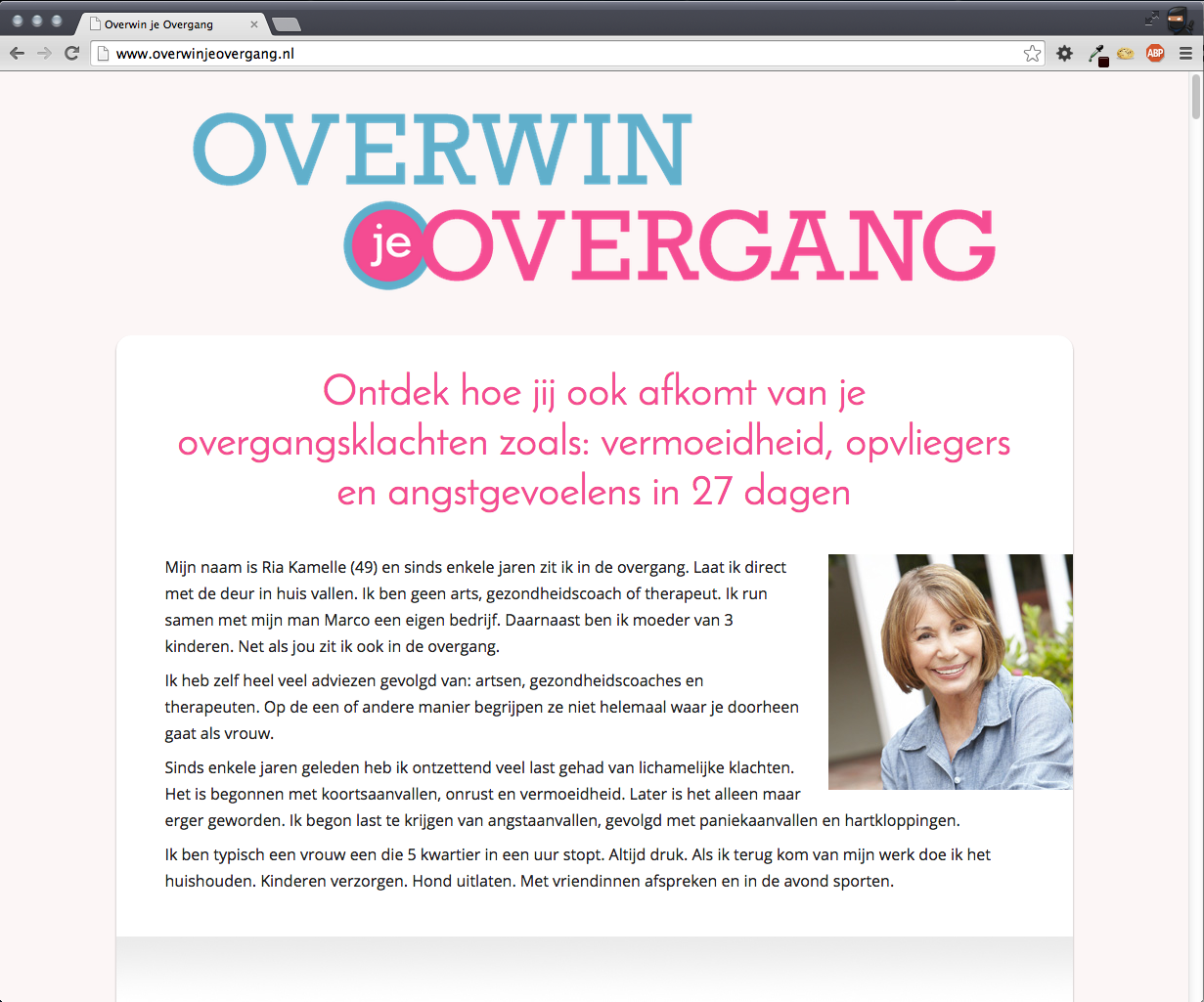 Overwin je Overgang salespage